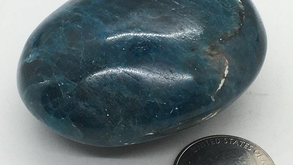 Blue Apatite Palm Stone