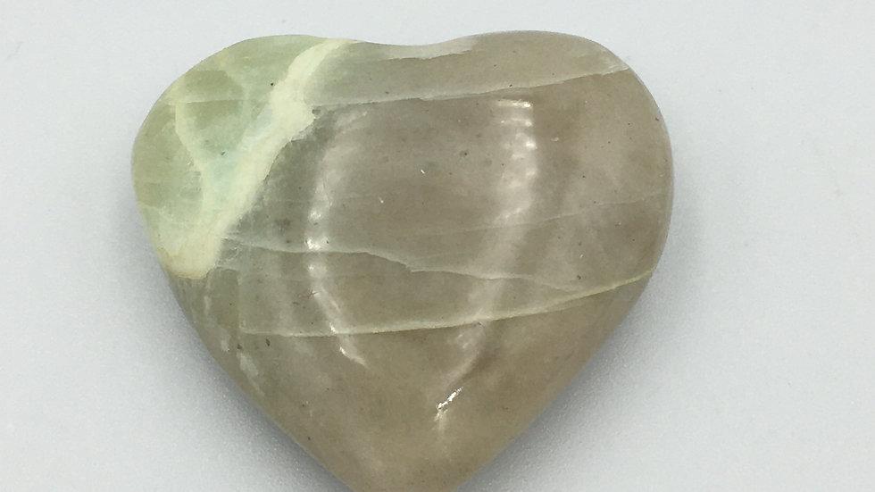 Green Moonstone AKA Garnierite Mini Heart