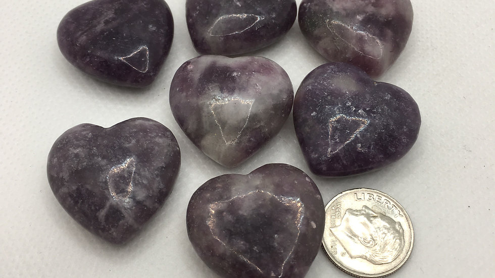 Lepidolite Mini Hearts