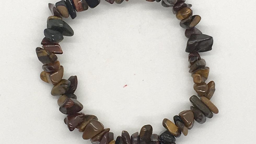 Tiger Eye Mix Chip Bracelet