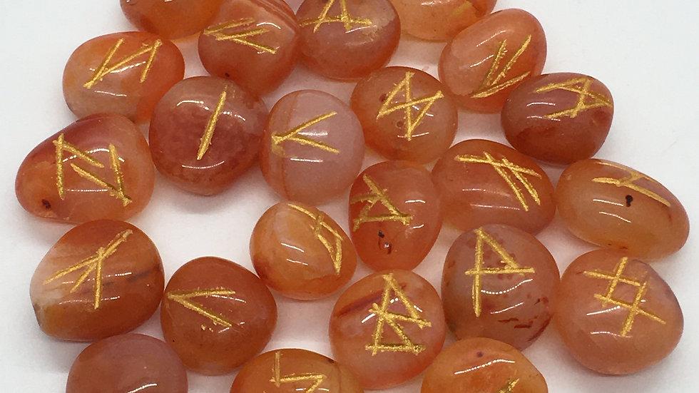 Carnelian Rune Set