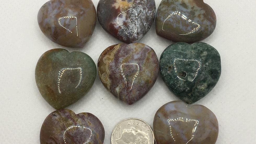 Ocean Jasper Mini Hearts
