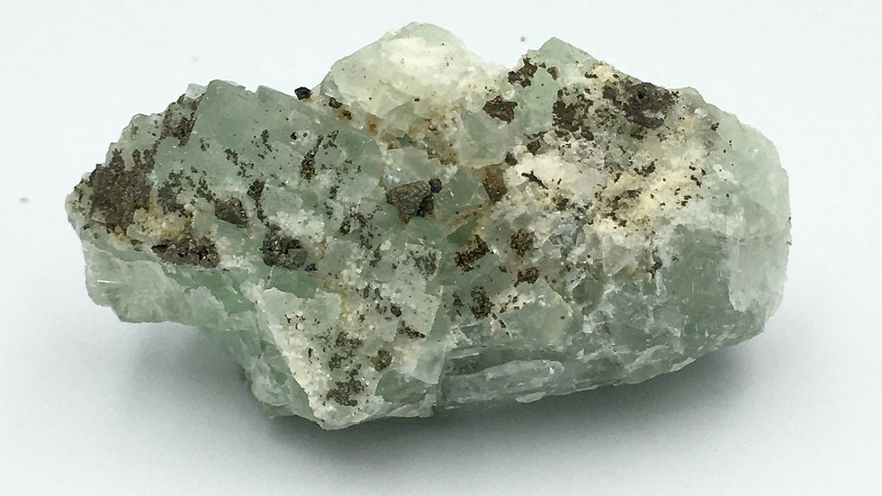 Fluorite with Quartz and Pyrite