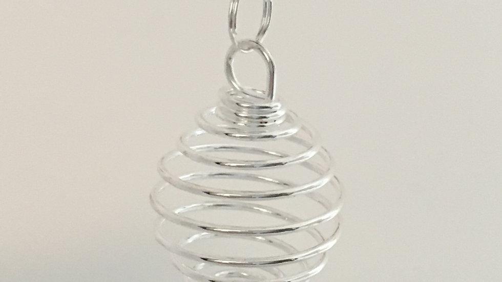 Round Silver Pendant Cage
