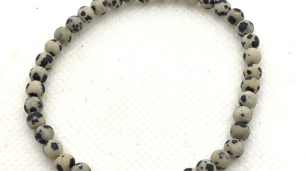 Dalmatian Jasper with 4 mm beads