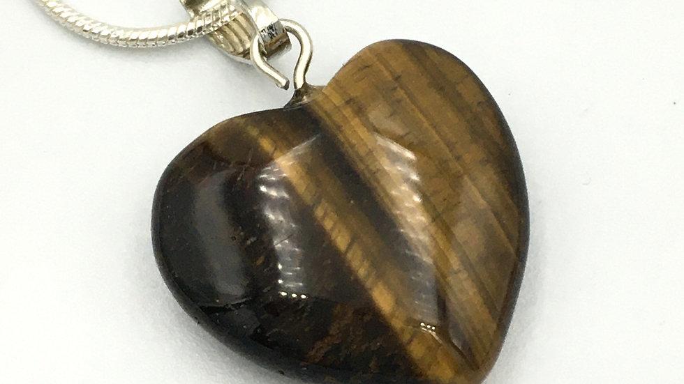 Golden Tiger Eye Mini Heart Shaped Necklace