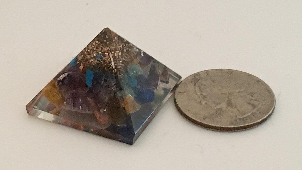 Chakra Orgonite Mini Pyramid
