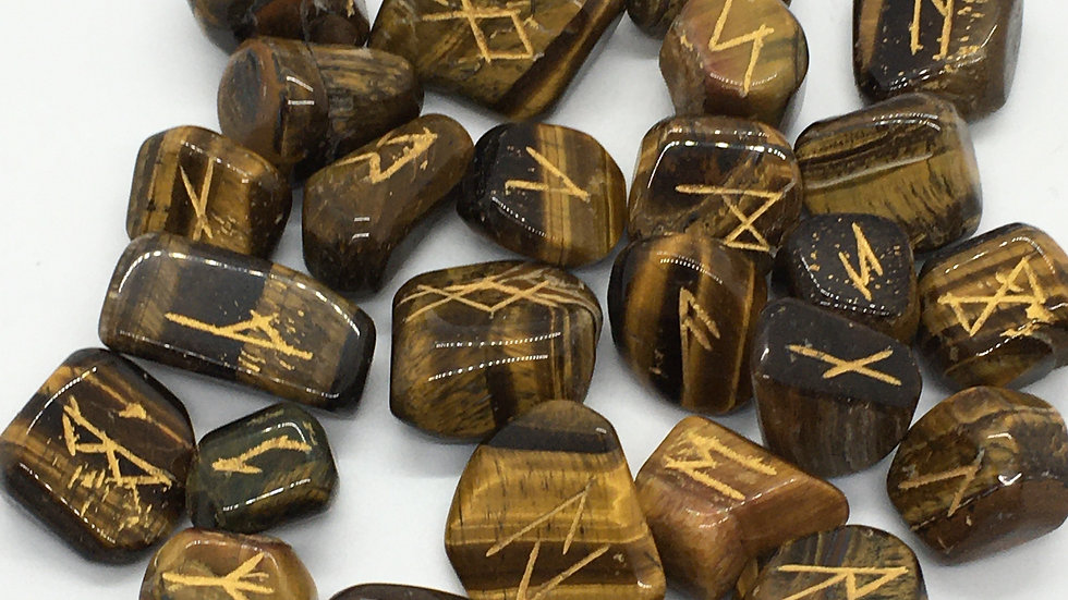 Golden Tiger Eye Rune Set