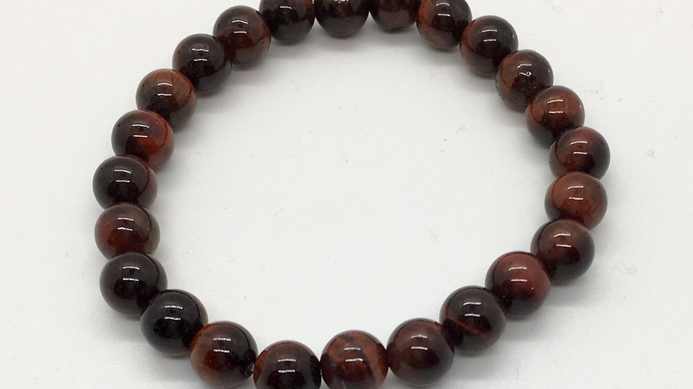 Red Tiger Eye Bracelet with 8 mm beads