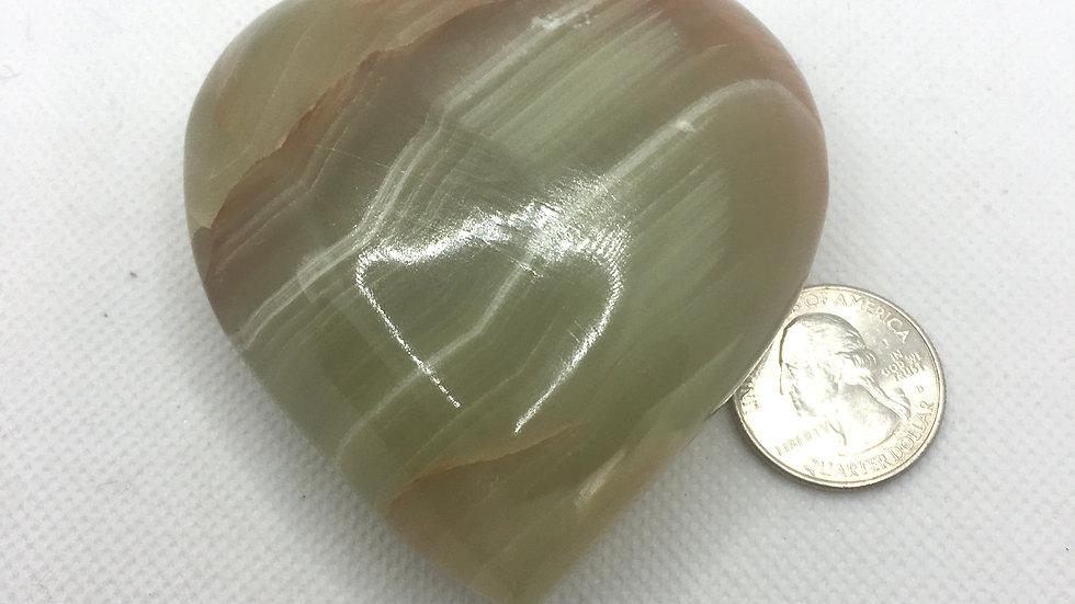 Green Marble Onyx Heart