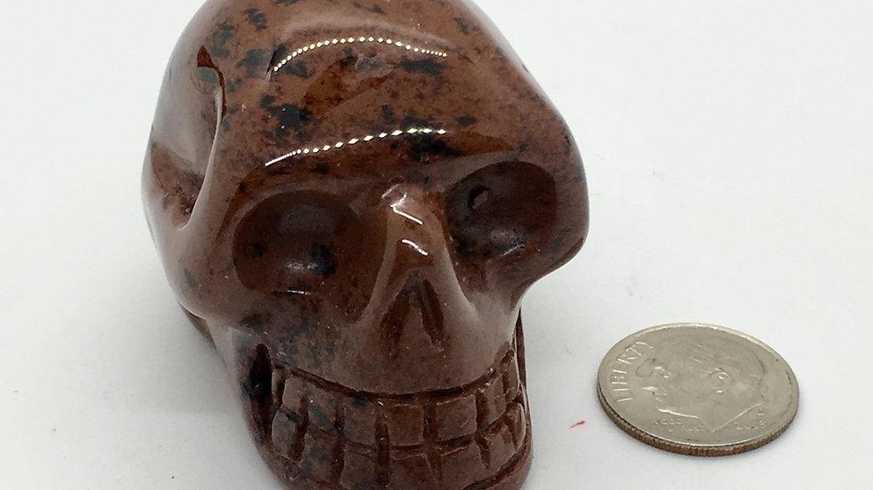 "Mahogany Obsidian 2"" Skull"