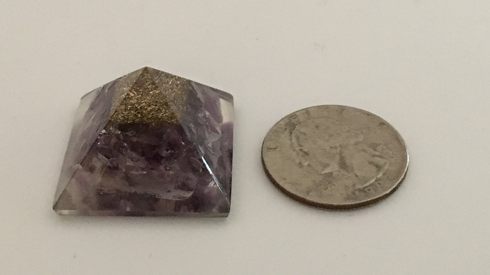 Amethyst Orgonite Mini Pyramid