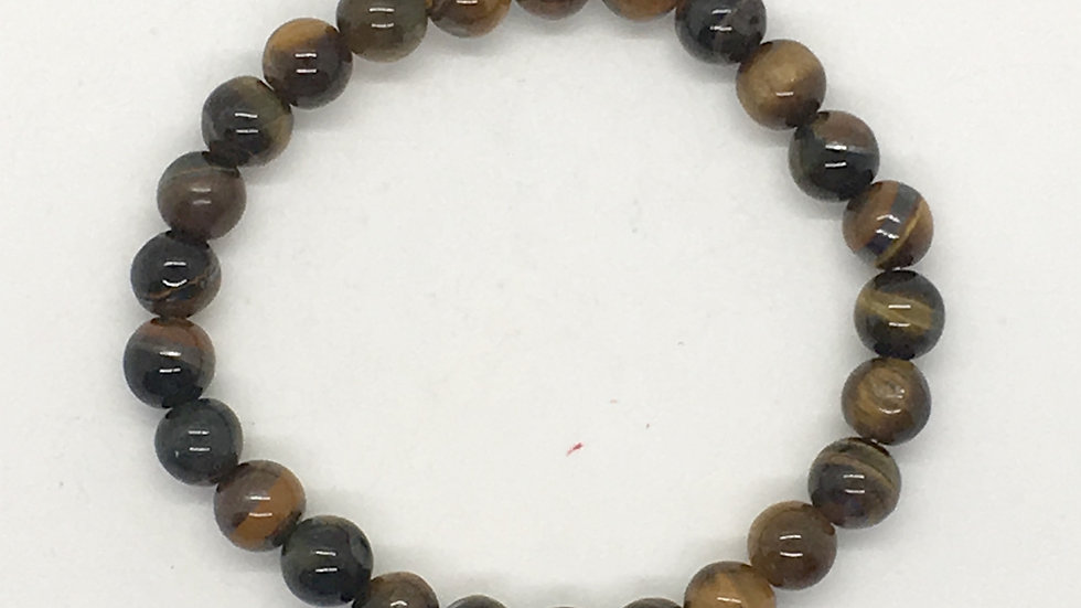 Blue Tiger Eye Bracelet with 8 mm Beads