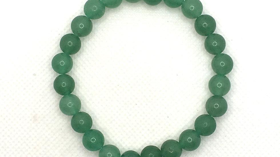 Green Aventurine Bracelet with 8 mm Beads
