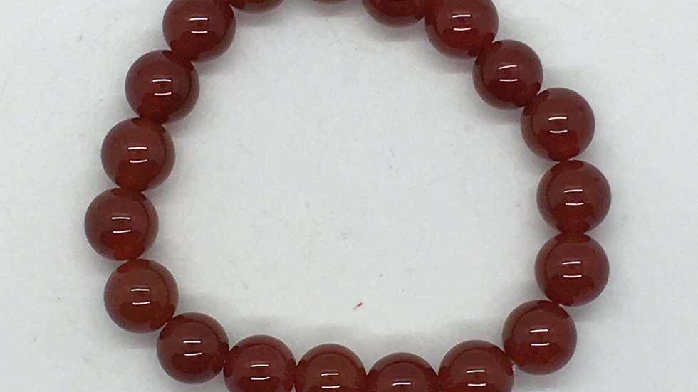 Carnelian Bracelet with 10 mm beads