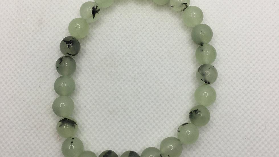 Prehnite Bracelet with 8 mm Beads