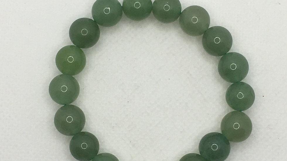 Green Aventurine 10 mm Bead Bracelet