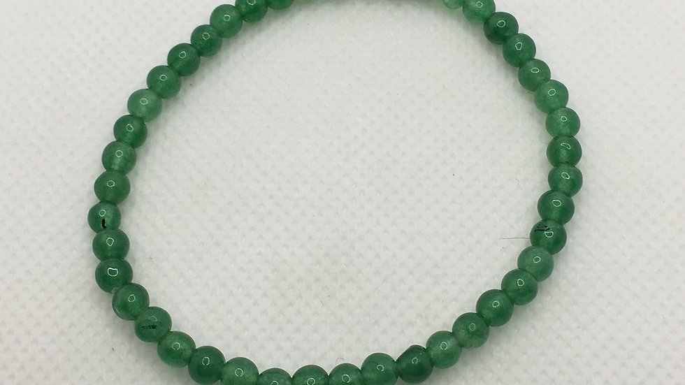 Green Aventurine Bracelet with 4 mm Beads