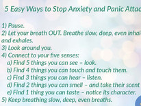 5 Easy ways to stop an anxiety and panic attacks