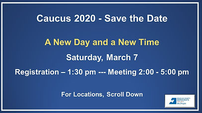 save the date caucus 2020 no locations s