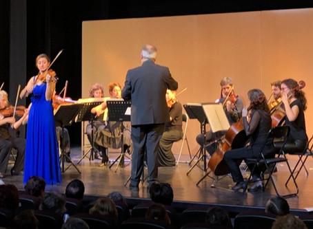 El violí com a solista en el 5è concert de clàssica de la temporada