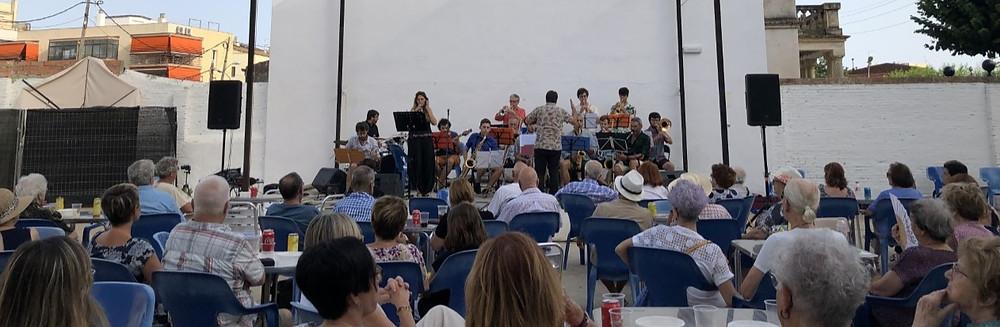La Big Band Sitges en un moment del Concert