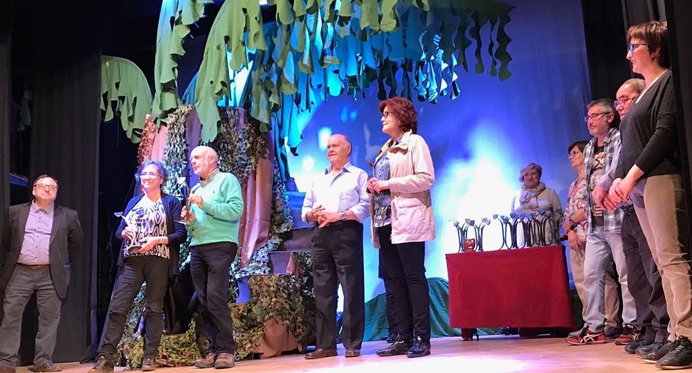 Rosa Forns en la recollida del premi
