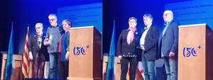 Joan Rosquellas i Manel Busom en la entrega dels premis