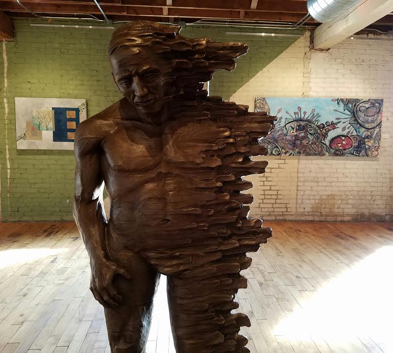 David Zahn sculpture installion