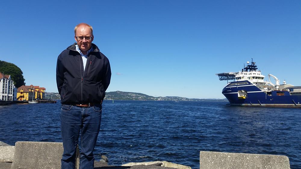 Audun Oddekalv, og en sjelden solskinnsdag i Bergen.