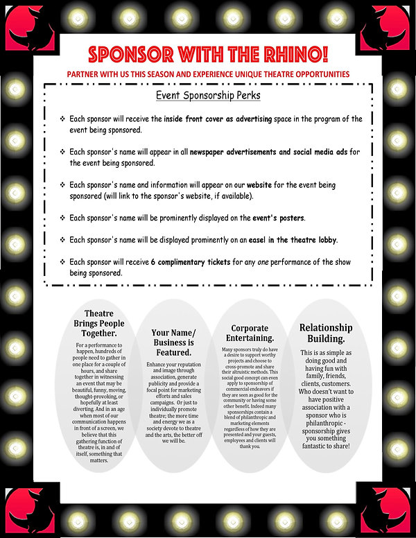 Rhino Theatre Sponsorship