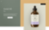 Product page for CBD facial oil.