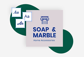 The logo for a small business named Soap & Marble.