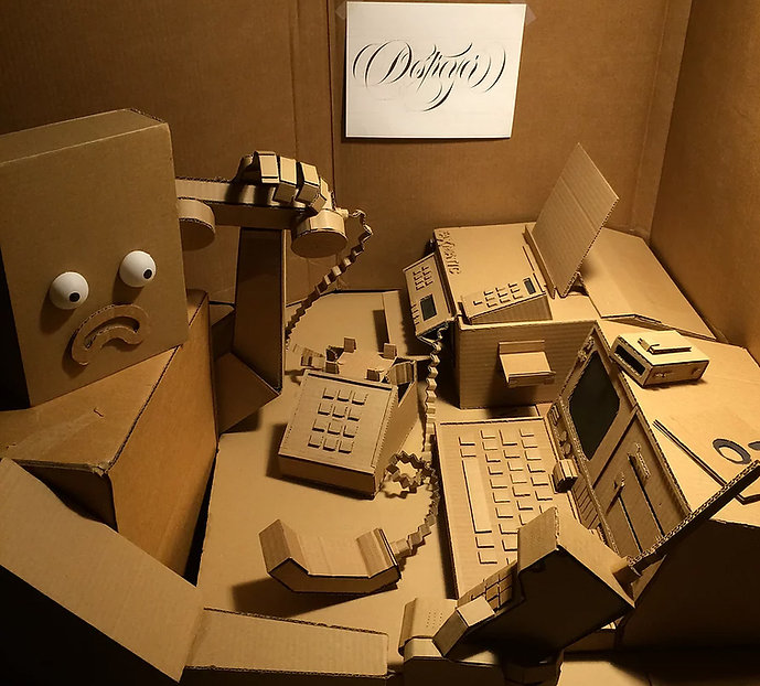 Insights into the world of lettering, technology and design all in cardboard