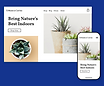 Online plant store homepage on desktop and mobile, including an orders dashboard, showing how to sell online