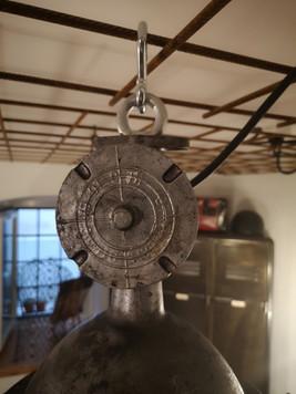 Grande suspension métal et verre