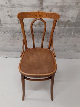 Chaise bistrot bois foncé