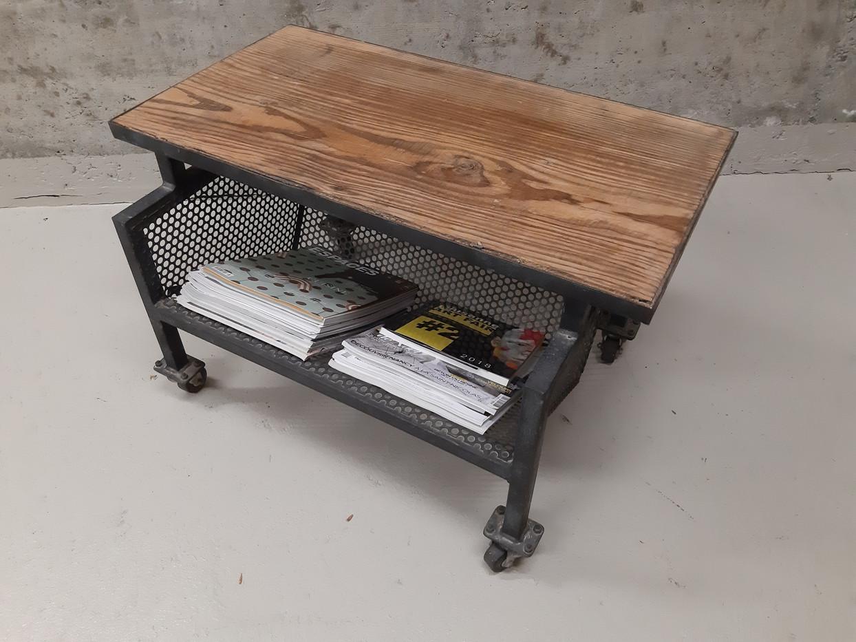 Petite table bois & métal