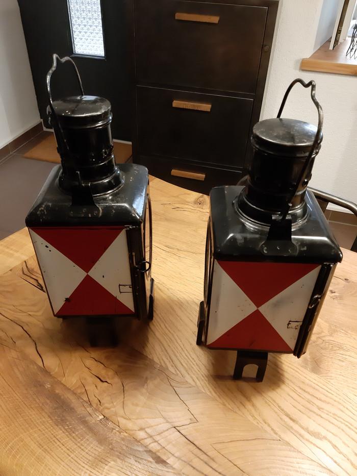 Lanternes de train