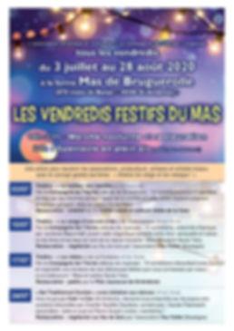 Les Vendredis Festifs du Mas - Flyer_Pag