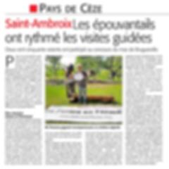 2018 - Remise prix Ciel mon épouvantail - Article Midi Libre