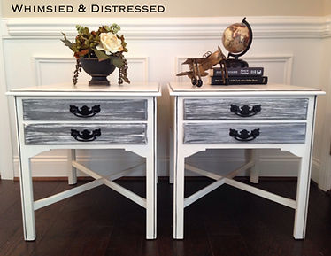 Gray/white end tables