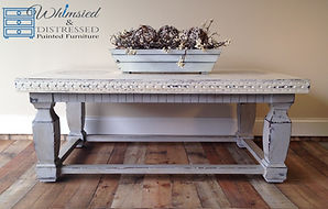 Paris Gray and White Coffee Table