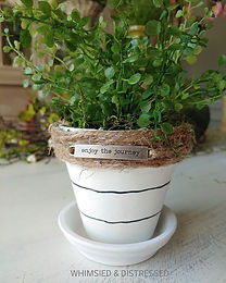 Cute mini inspirational planter...along