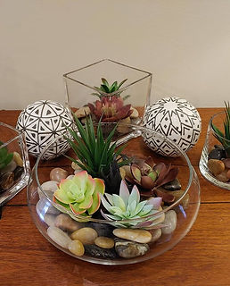 Succulent arrangements will be added to