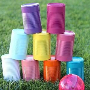 Tin Can Bowling and Backyard Twister