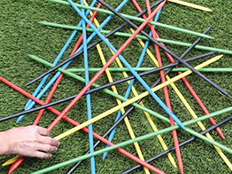 Giant Pick-Up Sticks and a Water Balloon Piñata