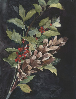 Pine Cone & Holly