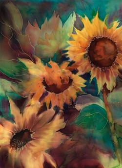 Sunflowers on Silk