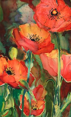 Poppies on Silk
